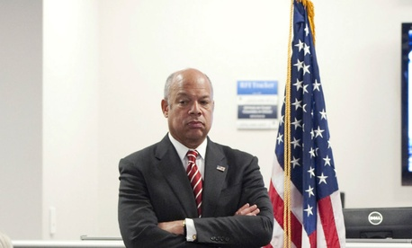 DHS Secretary Jeh Johnson says department management is improving.