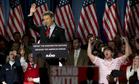 Sen. Rand Paul, R-Ky., announces his candidacy.