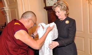 She's met the Dalai Lama, but she also eats burrito bowls.