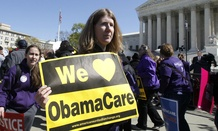 Supporters of the Affordable Care Act rally in Washington in 2013.