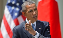 President Barack Obama speaks about recent unrest in Baltimore during a joint news conference with Japanese Prime Minister Shinzo Abe Tuesday in Washington.