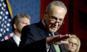 """""""Republicans should be warned right here, right now,"""" said Sen. Chuck Schumer, D-N.Y."""