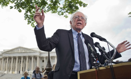 Sen. Bernie Sanders, I Vt., talks about his agenda in running for president.