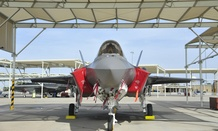 An F-35 Lightning II joint strike fighter arrives at Luke Air Force Base in Arizona.