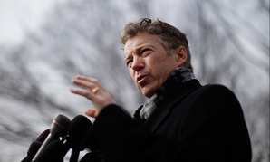 Rand Paul speaks against NSA surveillance in Washington in 2014.