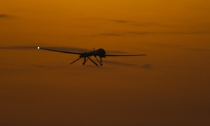 An MQ-9 Reaper flies in Afghanistan in 2010.