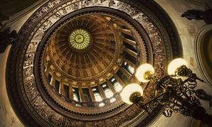 The Illinois Capitol Rotunda in Springfield.