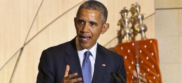 Obama spoke at Adas Israel Congregation in Washington Friday.