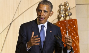 Obama spoke at Adas Israel Congregation in Washington Friday.