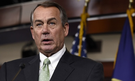 House Speaker John Boehner announced his intention to sue the president in July 2014.