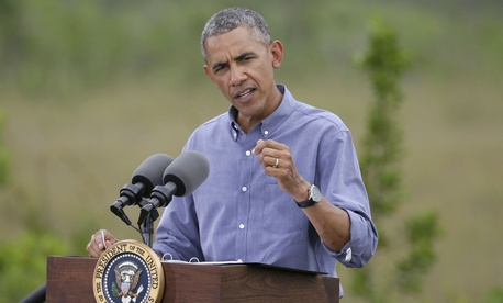 President Obama speaks about climate change at Everglades National Park, on Earth Day.