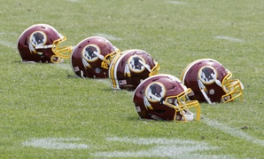 "Last summer, the U.S. patent office canceled six of the Redskins' trademark logos because the office considered the team's name ""disparaging to Native Americans."""