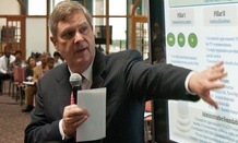 Agriculture Secretary Bob Vilsack speaks about the Blueprint for Stronger Service Initiative in 2012.