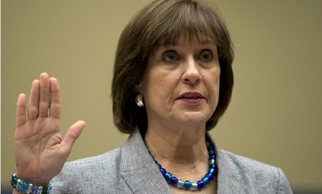 Lois Lerner is sworn in before the House Oversight and Government Reform Committee in May 2013.