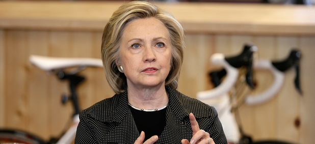 Clinton speaks to voters in Cedar Rapids on May 19.