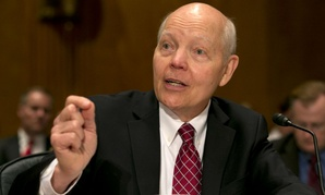 IRS Commissioner John Koskinen testifies before the Senate Homeland Security and Governmental Affairs Committee.