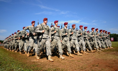 U.S. Army paratroopers assigned to the 82nd Airborne Division.