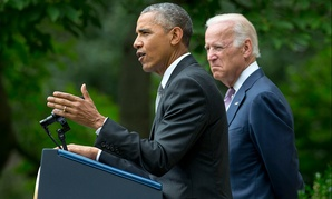 Accompanied by Joe Biden, the president spoke about the ruling Thursday from the White House's Rose Garden.
