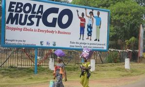A sign in Monrovia, Liberia.