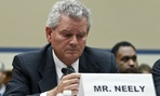 Former GSA executive Jeff Neely asserted his right to remain silent at a Capitol Hill hearing in 2012.