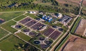 A sewage treatment plant