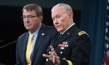Ashton Carter and Martin Dempsey held a press conference Wednesday, July 1.