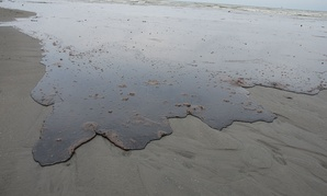 Oil approaches the Louisiana shore in 2010 after the spill.