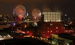 Fourth of July fireworks over New York City, which uses ShotSpotter technology to detect gunfire