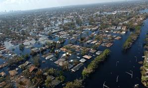 Hurricane Katrina destroyed neighborhoods in 2005.