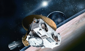 Artist conception of New Horizons Spacecraft.