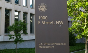 WASHINGTON, DC - JUNE 6: Sign at the Office of Personnel Management (OPM) in Washington, DC on June 6, 2015. OPM manages the civil service of the federal government.