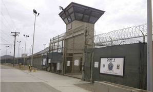 The entrance to Camp 5 and Camp 6 at the Guantanamo Bay detention center.