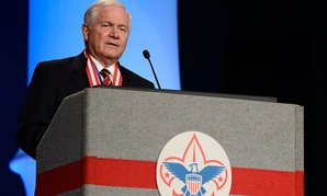 Former Defense Secretary Robert Gates addressed the Boy Scouts of America's annual meeting in 2014.