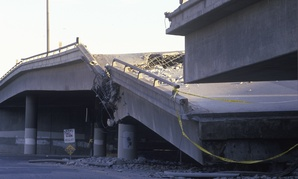 A section of Interstate 10 in Los Angeles collapsed during the 1994 Northridge earthquake.