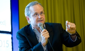 Lessig spoke in London in May on technology and government.