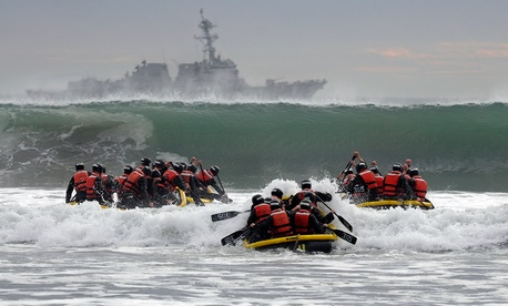 SEAL students participate in a 2014 training in California.