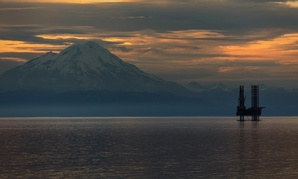An oil and gas platform in Cook Inlet, Alaska.
