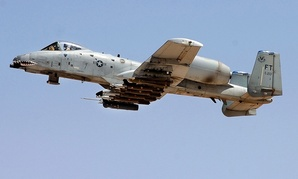 An A-10 Warthog takes off from Al Asad Air Base in Iraq in 2007.