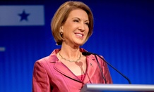 Fiorina participates in a presidential pre-debate forum hosted by Fox News and Facebook at the Quicken Loans Arena on Aug. 6 in Cleveland.