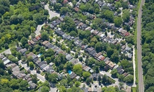 An aerial view of Levittown, New York.