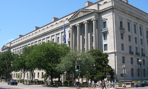 The Justice Department headquarters is housed in Washington D.C.'s Robert F. Kennedy Building
