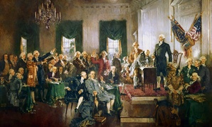 """Howard Chandler Christy's """"Scene at the Signing of the Constitution of the United States"""""""