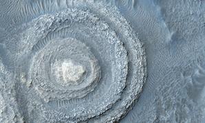 Exposed rock on Mars