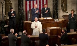 Pope Francis addresses a joint meeting of Congress.