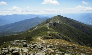 A section of the Appalachian Trail in the White Mountains of New Hampshire. The Land and Wa­ter Con­ser­va­tion Fund has been responsible for preserving historic sites, parks and the trail.