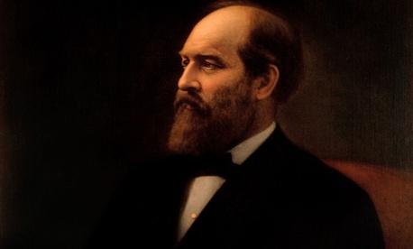 Garfield's White House portrait.