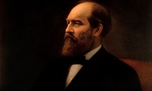 Garfield's White House portrait.