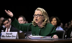 Secretary of State Hillary Rodham testifies on Capitol Hill in 2013.