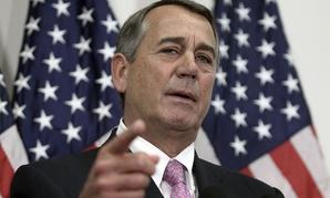 Boehner spoke to reporters Tuesday.