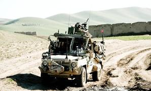 Norwegian soldiers on patrol in Faryab province, Afghanistan in 2009.